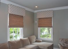 an Elegant use of Horizons Natural Woven Shades by our dealer Note to all of our dealer Amanda Smith of Sew UnOrdinary.  Thank you for sharing Amanda!  Dealers: We would love to see the examples of what you have created with Horizons. Please share them here of email them to tomp@horizonshades.com