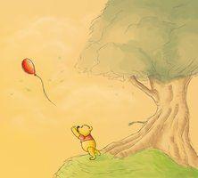 Pooh losing a balloon :(