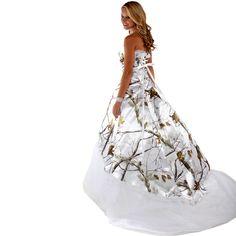 realtree wedding dresses | Realtree White Camo Wedding Dress | Made in USA | Free Shipping