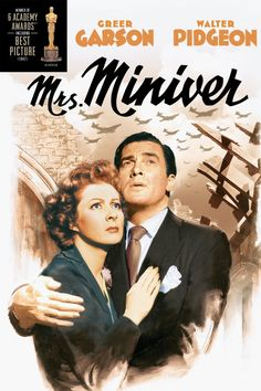 """Mrs. Miniver"" (1942) tells the story of an indomitable British family during WWII. Greer Garson (best actress Oscar) and Walter Pidgeon star  in this Oscar winning best film."