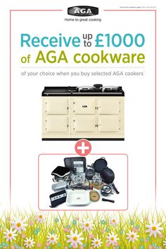 Fantastic Spring Offers available now. Transform your kitchen with an iconic AGA cooker.