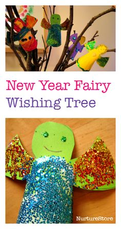Make a wish tree with New Year fairies