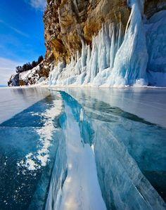 The magic of Bajkal lake in wintertime.