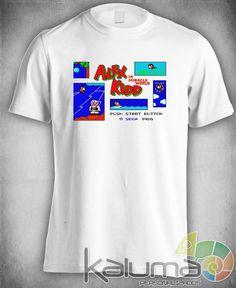 camiseta alex kidd master system drive 100% poliéster #2021