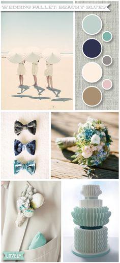 Wedding color pallet inspiration, summer wedding, blue wedding, beach wedding,  Wouldn't it be Lovely