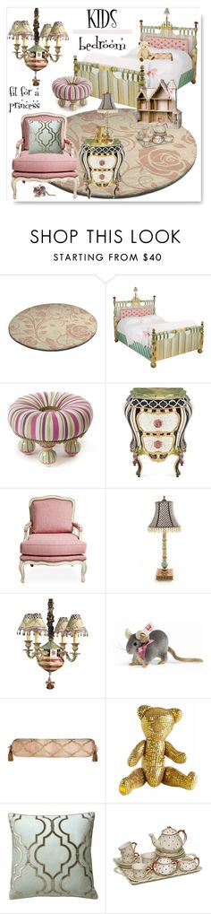 """""""Little Princess~Kids Bedroom"""" by drenise ❤ liked on Polyvore featuring interior, interiors, interior design, home, home decor, interior decorating, MacKenzie-Childs, Steiff, Sweet Dreams and Freddy Dico"""