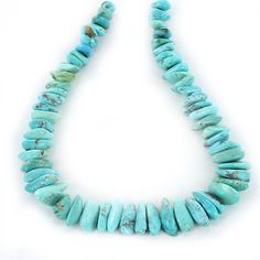 KINGMAN TURQUOISE BEADS FLAT NUGGET SHAPES BLUE from New World Gems
