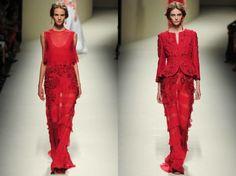 lady in red - MFW Alberta Ferretti