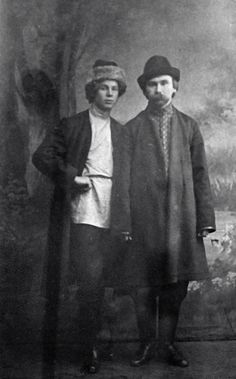 Poets Sergei Yesenin (left) and Nikolai Klyuyev, 1916.