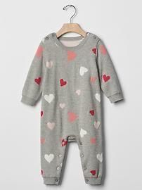 Multi-heart sweater one-piece