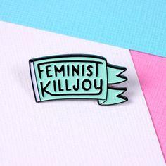 Feministische Killjoy weichen Schmelz-polig, mit Schmetterling-Kupplung auf der…