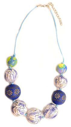 "Colier ""Wood in colours"" - Meli Melo - Paris Meli Melo, Colours, Paris, Wood, Summer, Collection, Jewelry, Fashion, Moda"