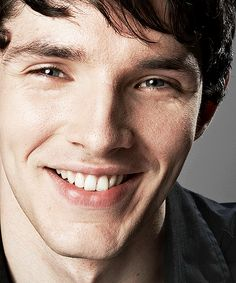 Colin Morgan - I absolutely love his smile and the way it lights up his face and scrunches up the corners of his eyes. So precious.