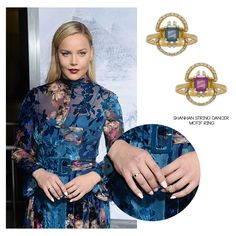 """Australian actress, Abbie Cornish, attended the Los Angeles premiere of Warner Bros. Pictures' """"Geostorm,"""" wearing the Shanhan String Dancer Motif Ring."""