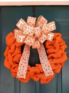 Tennessee Vols Orange Burlap Wreath @Kim Hill