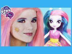 My Little Pony Princess Celestia Makeup Tutorial!  Equestria Girl Doll C...