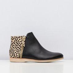 Rollie Nation - Side Zip Black/Cheetah Boots