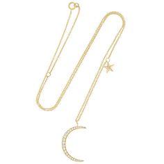 Moon & Star Diamond Necklace - Anita Ko