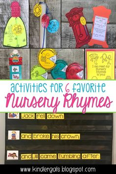 Kindergarten Activities for 6 Favorite Nursery Rhymes! Rhyming Activities, Hands On Activities, Kindergarten Activities, Classroom Activities, Classroom Ideas, Teaching Phonics, Primary Teaching, Teaching Ideas, Nursery Reading