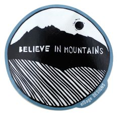 Show your love for the all the mountains with this rad sticker! Designed by us…