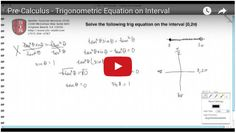 Click here to learn how to solve a trigonometric equation over an interval. Calculus, Algebra, Equation, Math, Learning, Math Resources, Studying, Teaching, Equality