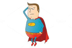 fat super hero patrol by zetwe shop on Creative Market