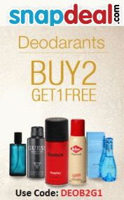 Buy 2 Get 1 Free on Deos at Snapdeal - http://www.couponzguru.com/