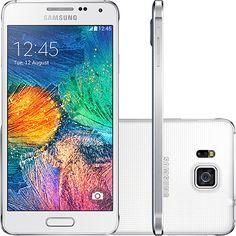 "Submarino Smartphone Samsung Galaxy Alpha Desbloqueado Android 4.4 Tela 4.7"" 32GB 4G - R$1416,69"