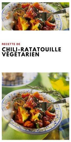#recettevégétarienne #chili #ratatouille Ratatouille, Chili, Beef, Food, Veggie Dishes, Eggplant, Recipe, Meat, Chili Powder