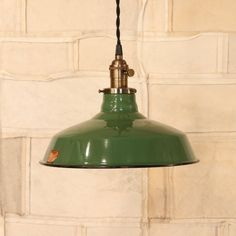Factory Lighting with Vintage Ivanhoe Green by lucentlampworks, $164.00