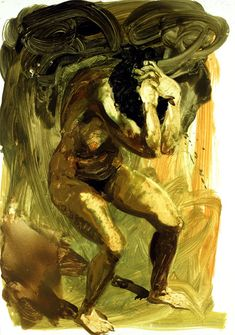 Art by Eric Fischl - On Kleshas: Sometimes, just being able to define afflictions, is enough to start on the healing road towards recovery. Knowing that kleshas, are very much psychological addictions, and that we are all afflicted by them. Painting People, Figure Painting, Figure Drawing, Painting & Drawing, Bad Painting, Lucian Freud, Neo Expressionism, Psy Art, Life Drawing