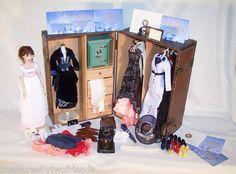 Wow! Official Rose Titanic movie doll, clothes, wardrobe trunk and jewelry safe.