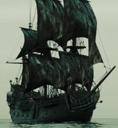 The Black Pearl was an infamous pirate ship, originally a merchant vessel named Wicked Wench. Pirate Art, Pirate Life, Pirate Ships, Captain Jack Sparrow, Jack Sparrow Ship, Pirate Ship Tattoos, Hector Barbossa, Pearl Tattoo, Black Pearl Ship
