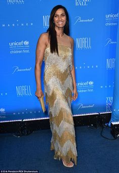 Fringe benefits!Padma Lakshmi, 45, stood out from the crowd and sparkled in a flapper-ins...