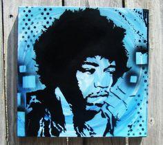Jimi Hendrix Painting by Kellie aka Empwr