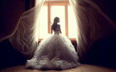 Bridal, indoor, windows, backlit
