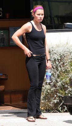 Jessica Biel | 43 Celebrities Who Swear By Yoga | Loved and pinned by www.downdogboutique.com