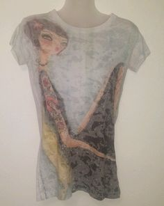 Cold Crush Exclusive Artists Collection Sz Large Womens Cotton/Polyester Shirt #ColdCrush #GraphicTee