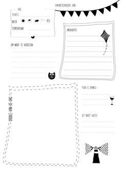 Gratis printable: Vakantiedagboek voor volwassenen