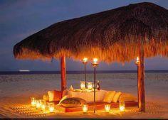 Noche romántica en la playa
