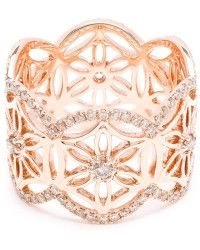 Dionea Orcini | 18k Rose Gold Diamond Mini Semiramis Ring |  Lyst
