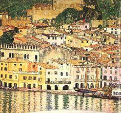 Malcesine on Lake Garda, 1913 Gustav Klimt - by style - Art Nouveau (Modern) - WikiArt.org