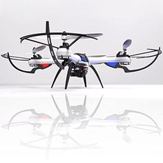 KiiToys Tarantula X6 Quad Copter with HD Camera 720p, 6 Axis Gyroscope, 4 Channels RC Radio Control, Long Lasting Battery, 3D Flip Roll, 2.4 ghz 300 ft Range * Click image to review more details.