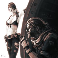 mgsV fan art The Phantom Pain Metal Gear V, Metal Gear Solid Quiet, Snake Metal Gear, Metal Gear Solid Series, Metal Gear Rising, Cry Anime, Anime Art, Heroes United, Mgs V