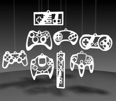 Video Game Controller ornaments. These would make a cute mobile for a nerdy baby room!