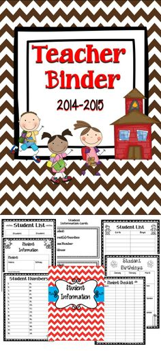 Chevron Teacher Binder - This teacher binder will be a great organizational tool for you to use in the classroom. #education #tpt