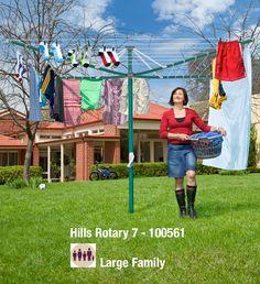 Hills Rotary Clotheslines  Premium Range: Hills Clothesline Products:  Retractable Clotheslines, Rotary Clotheslines, Clothes Drying Racks And  Portable ...