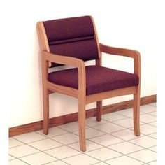 Wooden Mallet Valley Standard Leg Guest Chair Wood Finish: Medium Oak, Fabric: Arch Khaki, Arms: Included