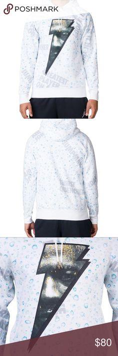 dbfc4fe41368 🎁NEW Nike Jordan White Like Mike Hoodie NEW Nike Jordan Mens White Like  Mike Longsleeve