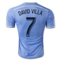 5c8f6110b4a New York City 2014-15 season Home DAVID VILLA  7 Blue Jersey New York City  2014-15 season Home DAVID VILLA  7 Blue jerseys